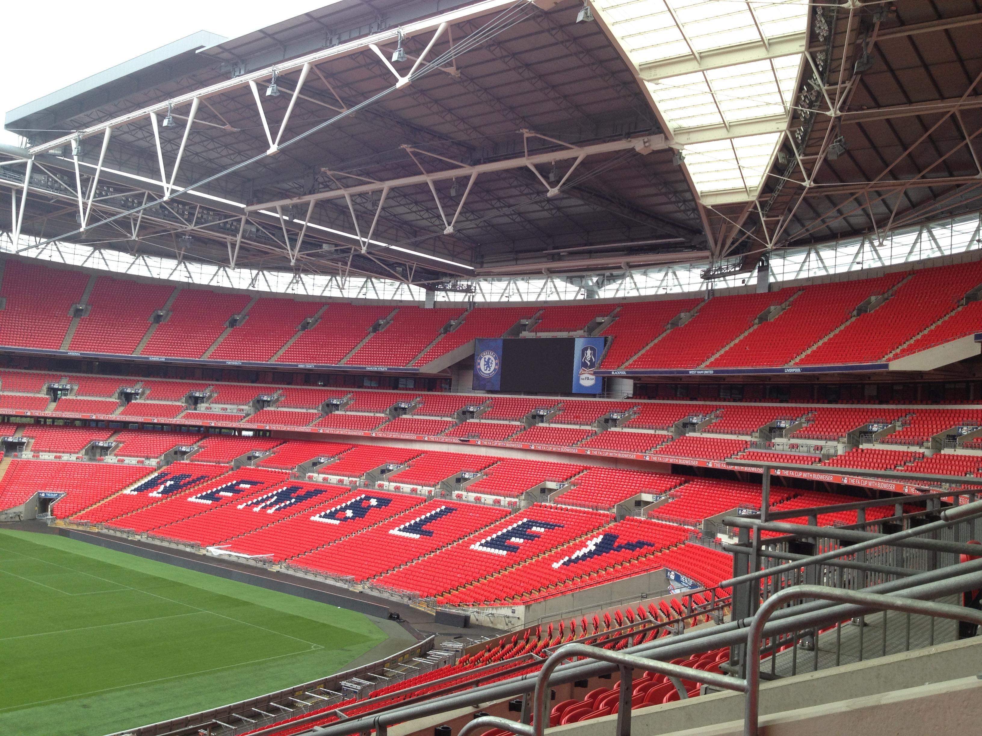 Wembley Stadium London Uk Growing Green Grass