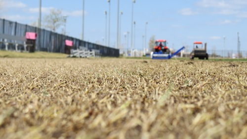 Modern Fraze Mowing w/ Universe® Field Topmaker rotor at FC Dallas Park