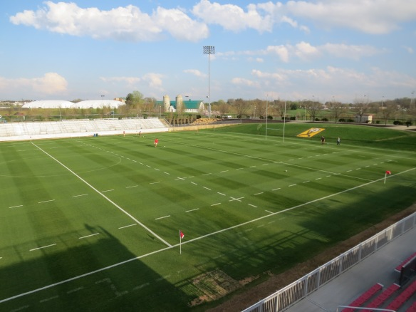 SoccerPlex Stadium Lined for Rugby