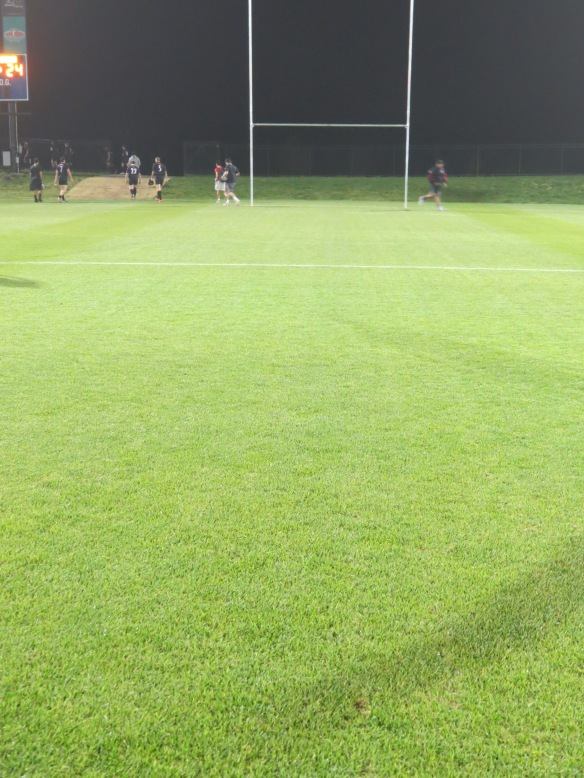Center of Field Post Rugby Match