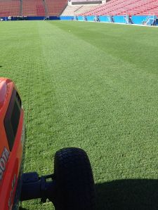 May 5: Cross Tine Aeration Following Floor Pick Up