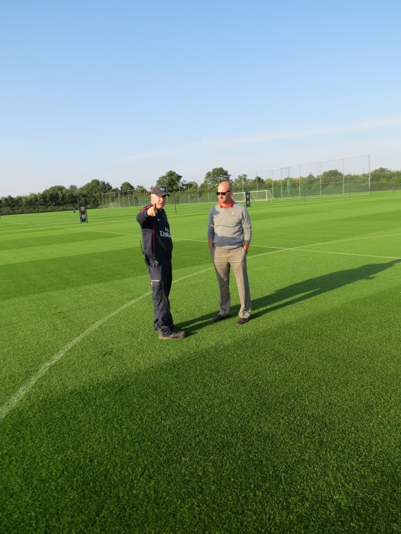 Mr. Steve Braddock at Arsenal's Training Ground