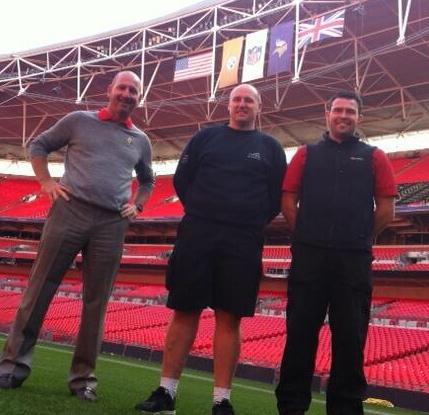 Mr. Anthony Stones of Wembley Stadium, and Mr. Paul Ashcroft of Emirates Stadium (At Wembley)