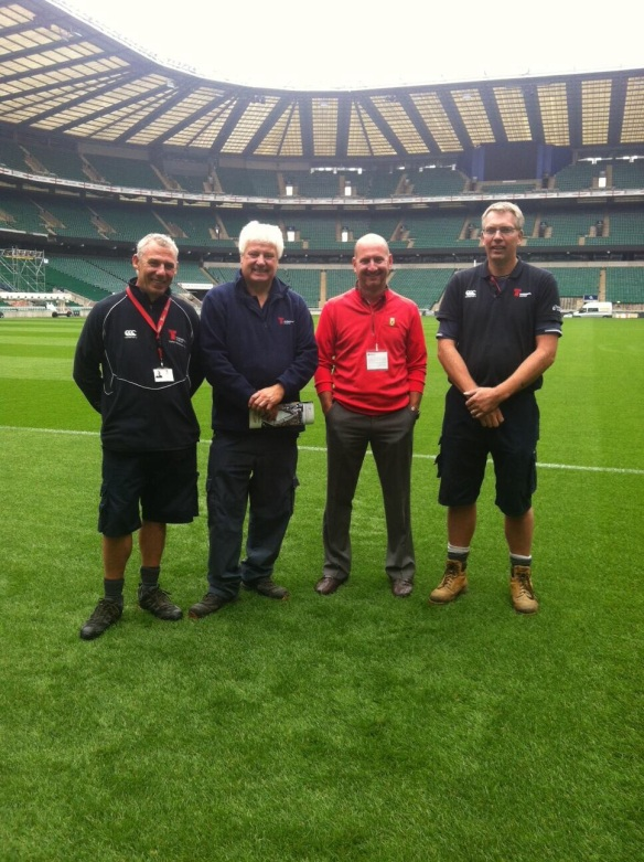Twickenham Stadium Staff: Mr. Ian Ayling, Mr. Keith Kent, and Mr. Andy Nuir
