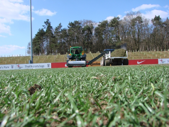 Premier Pitches Renovating Desso at St. George's Park This Past Spring