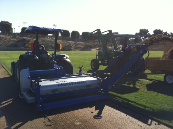 Fraze Mowing Off Thatch and Organic Matter w/ the KORO Universe® Rotor
