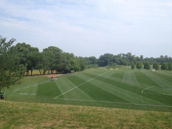 Lacrosse field shift over