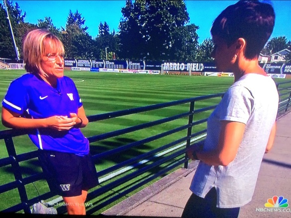 NBC News Artificial Turf Investigation w/ Gorgeous Grass Field at U of Portland's In The Background