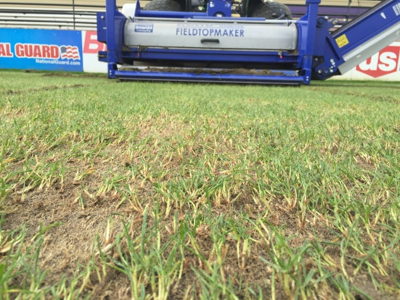 Universe Fraze Mowing of Merlo Field, U of Portland